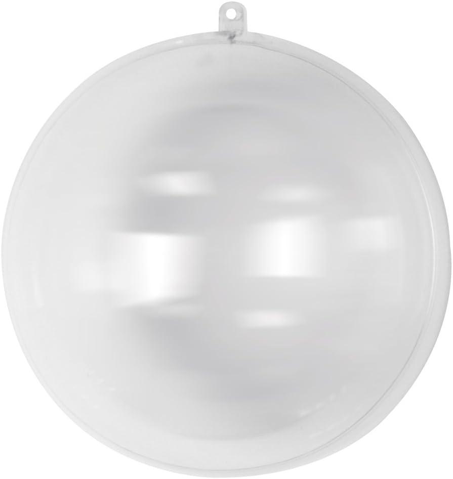 Rayher 3945737 - Bola de plástico (2 piezas, 20 cm de diámetro), transparente