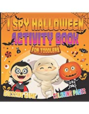 I Spy Halloween Activity Book for Toddlers: Halloween Guessing Game and Coloring Pages for Kids