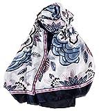Women Cotton Long Scarf Lady's Shawls Large Sea Beach Covers Spring Summer Autumn Winter Beach Sunscreen Wraps Shawl Drak Blue