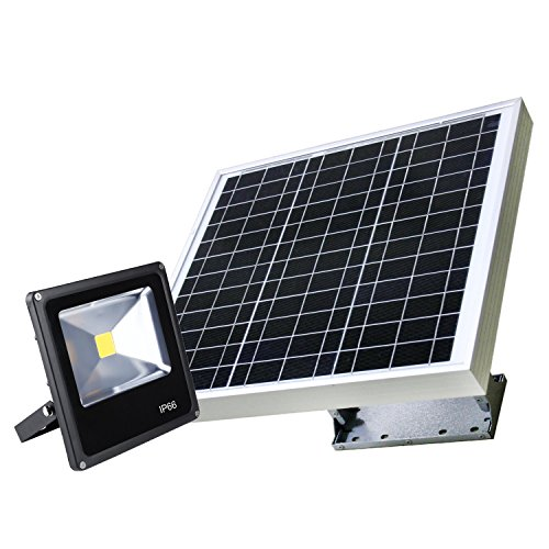 Solar Powered Ultra Power 15W LED Energy Efficient Street, Building, Parking Lot Lights, (The Mounting Bracket Included, Smart Illuminating Technology by eLEDing USA)