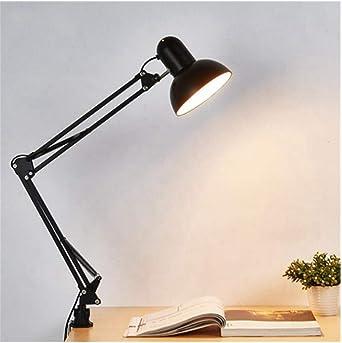 lámparas de bombilla Led lámpara de mesa Flexible brazo oscilante montaje de la lámpara de mesa de estudio de oficina luz de escritorio: Amazon.es: Iluminación