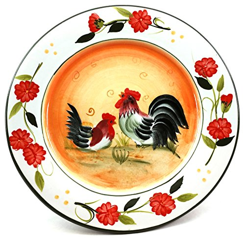 MarcoPolo Decorative Orange Rooster Plate - 8.5
