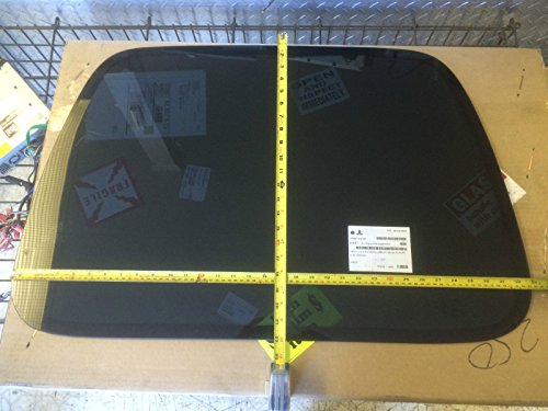 87-06 Jeep Wrangler 2-Door Hard Top Right Passenger Rear Quarter Glass Window, Dark Grey Privacy Tint (Glass Right Quarter)