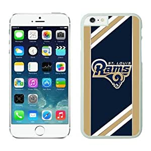 NFL iPhone 6 Plus 5.5 Inches Case St Louis Rams White iPhone 6 Plus Cell Phone Case ONXTWKHC4155