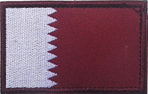 Embroidery Each Country's Flag Patch (3'' x 2'', Qatar)