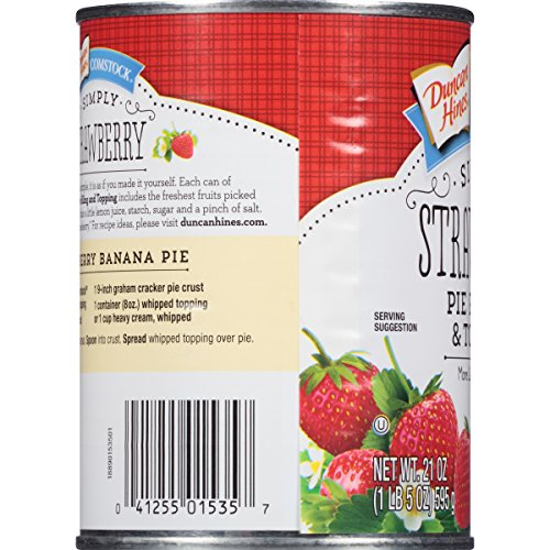 Comstock Simply Pie Filling & Topping, Strawberry, 21 Ounce (Pack of 8) by Comstock (Image #5)