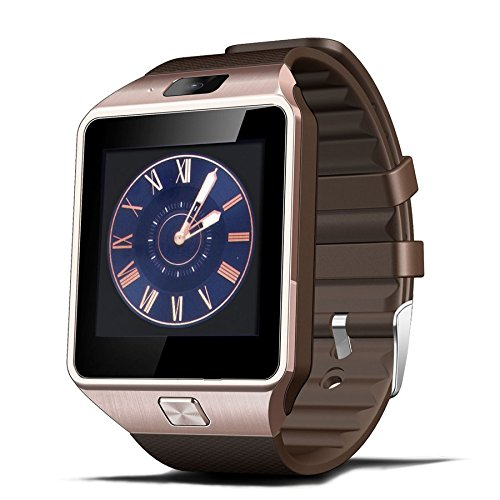 CNPGD dz01 DZ09 Smartwatch, Unlocked Watch Cell Phone All-in-1 Bluetooth Watch for iPhone, Android, Samsung, Galaxy Note, Nexus, HTC, Sony - Brown