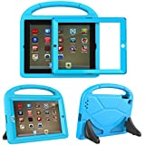 TIRIN Kids Case for iPad 2 3 4 with Built in Screen Protector - Shock Proof Convertible Handle Light Weight Durable EVA Protective Stand Cover for iPad 2nd 3rd 4th Generation, Blue