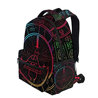 IMOBABY Bill Cipher Wheel Zodiac School Backpack Book Bag Travel Daypack | Kids' Backpacks