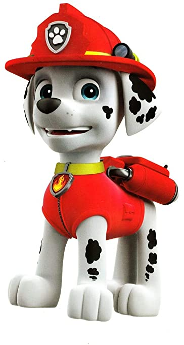8 Inch Marshall Paw Patrol Pup Wall Decal Sticker Pups Puppy Puppies Dog Dogs Removable Peel