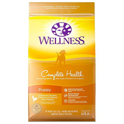 Wellness Complete Health Natural Dry Puppy Food, Chicken, Salmon & Oatmeal, 5-Pound Bag