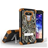 LG G5 Case, G5 Case, Beyond CellTri Shield [Dirtproof]High Impact Armor Hybrid Hard+Soft Rugged 3 Layer Protection Case with built in kickstand- Autumn Camouflage-FREE Screen Protector