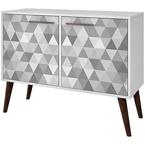 - Manhattan Comfort 7AMC165 Avesta Large 3 Shelf Storage Accent Cabinet, White
