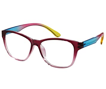 70f46c5031e Image Unavailable. Image not available for. Color  EyeBuyExpress Reading Glasses  Men Women Prescription Optional Retro Style ...