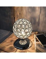 KINGSO K5 Crystal Table Lamp Night Light Ball Dimmable Modern Bedside Lamp Ball Touch Sensor Touch Function Diameter 120mm for Living Room Bedroom G9 Bulb Not Included.