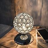 KINGSO K5 Silver Crystal Table Lamp Night Light Ball Dimmable Modern Bedside Lamp Ball Touch Sensor Touch Sensor Diameter 120mm for Living Room Bedroom【G9 Bulb Not Included】