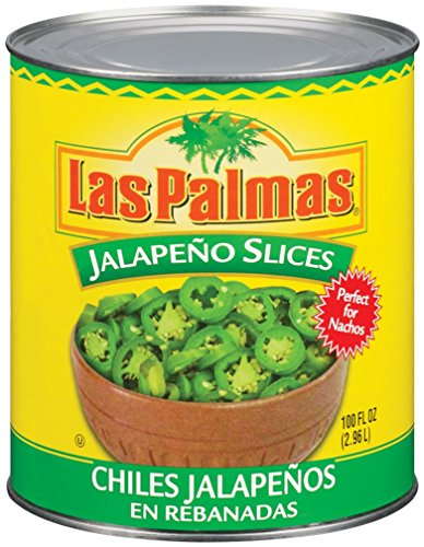 Las Palmas Jalapeno Peppers, Slices, 100 Ounce (Pack of 6) (Nacho Jalapeno Peppers)