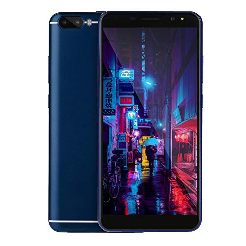 Unlocked Cellphones - 6.0 inch Quad core Dual HD Camera Android Smartphone - 512M+4G GPS 3G Call Mobile Phone Telephones (Blue, 6.0 inch) ()