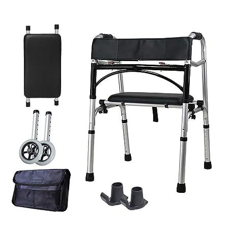MU Walker Elderly Equipo De Rehabilitación De Andador De Aluminio ...