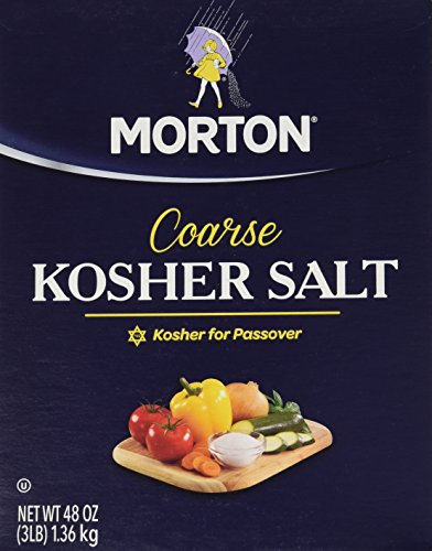 Morton Kosher Salt, Coarse, 48 Ounce
