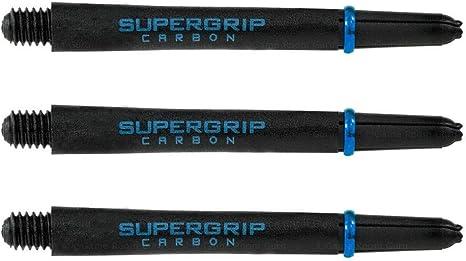 Medium Aqua 1 New Set Harrows SuperGrip Carbon Extra Strong Dart Shafts