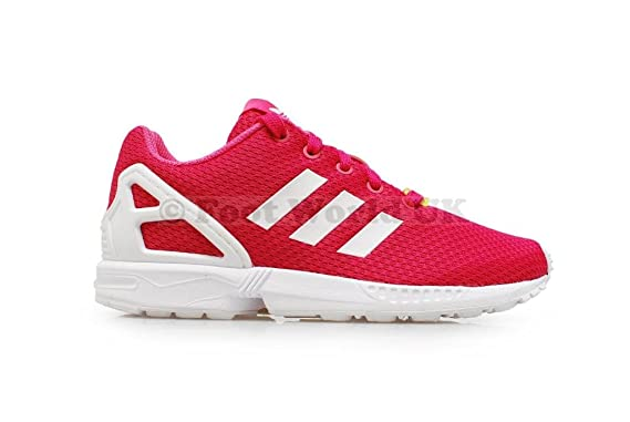 f92a6760255e5 Image Unavailable. Image not available for. Colour  Junior Girls Adidas ZX  FLUX Kids pink Trainers ...