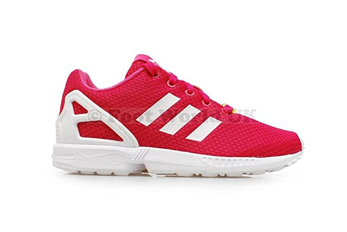 buy popular 22373 8f35d ... coupon code for junior girls adidas zx flux kids pink trainers m21120  uk 4.5 eur 37