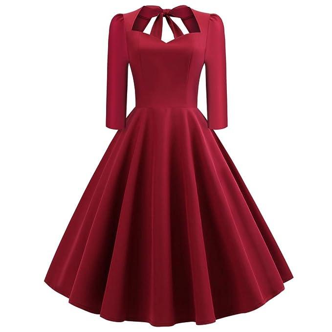 check out fe790 b026b ChallengE Vestito Donna Abito Elegante Cerimonia Invernale ...