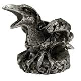 Mini Pewter Raven with Norse Runes Chime Candle Holder