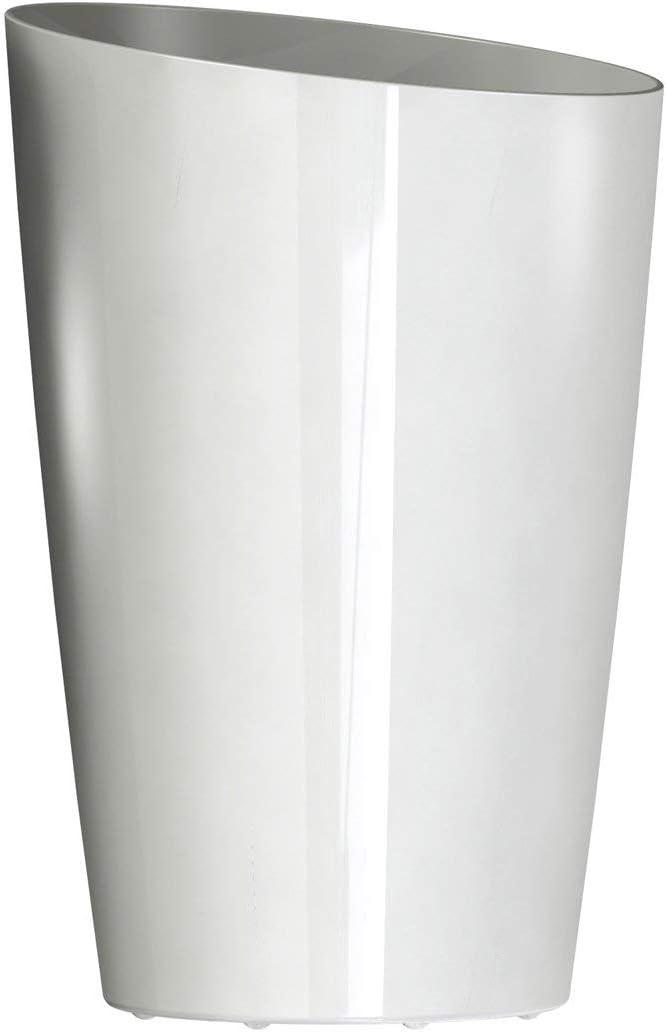 DCN Plastic Round Tall Planter, 13-Inch, White – 2213-09