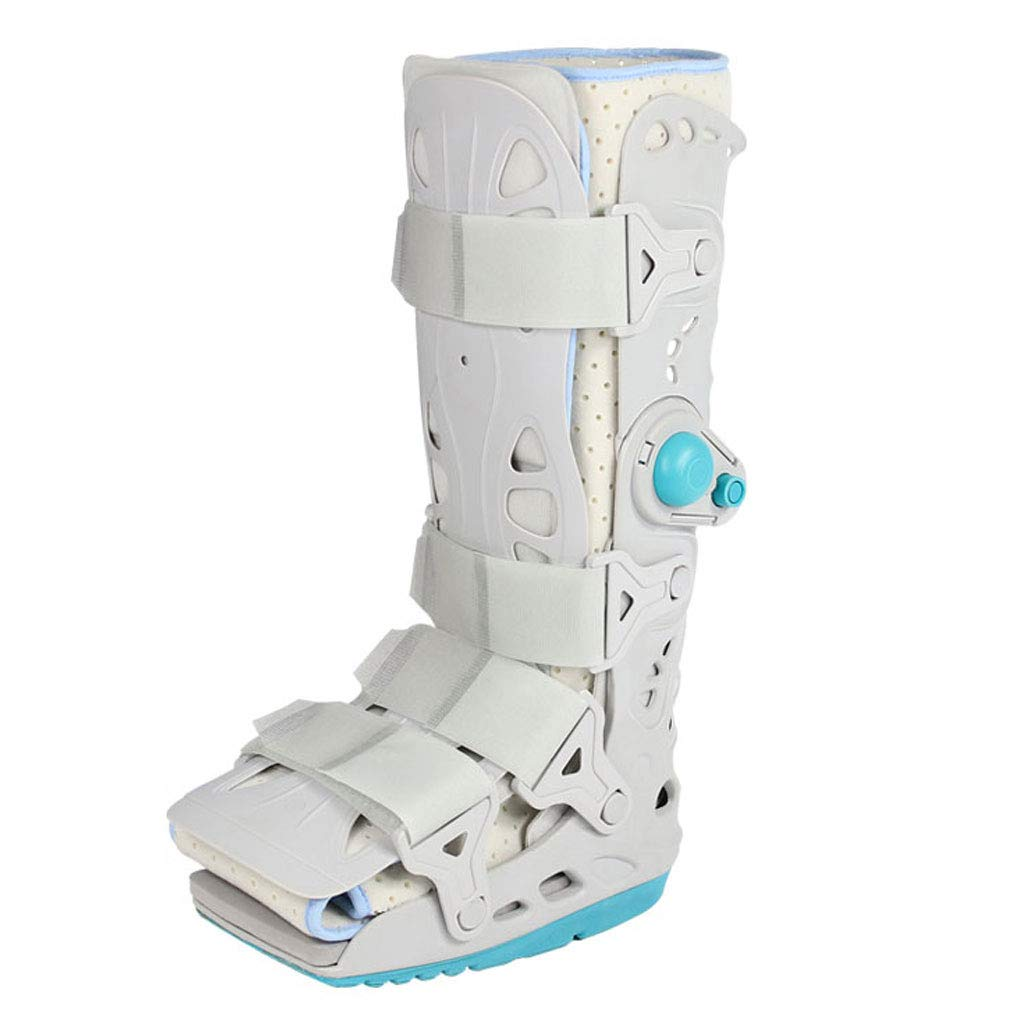 DONGBALA Foot Ankle Heal Fracture Support, Airbag Fixation Breathable with Removable Panels Aids Rehabilitation Increases Stability,B,S