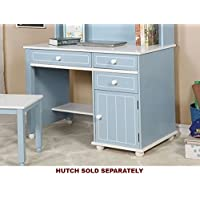 Deana Blue/White Solid Wood Desk by Furniture of America