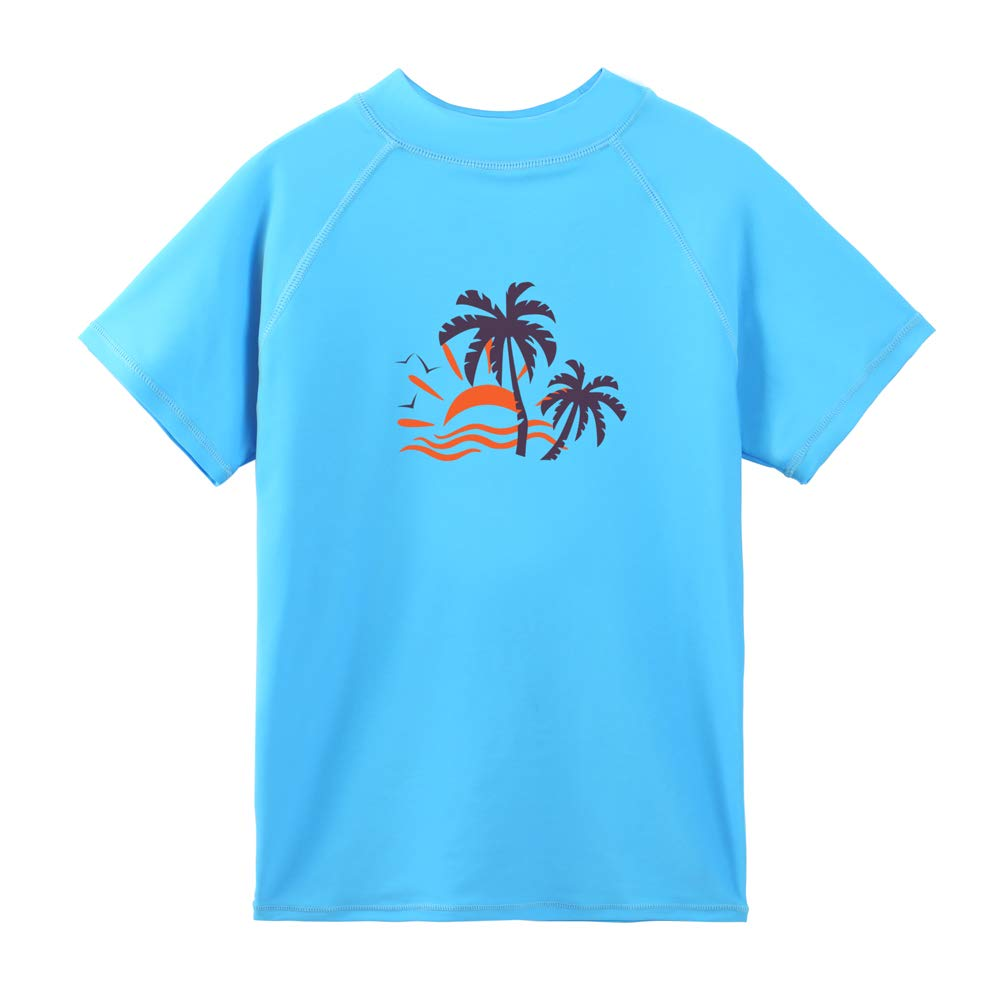TFJH E Boys Girls UV 50+ Swim T-Shirt Short