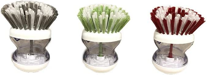 'APPILY Kitchen Soap Dispensing Palm Dish Brush - Dish Scrubber, Kitchen Brush, Kitchen Scrub Brush, Sponge for Dishes, Dish Brush with Handle, Pot Sink Cleaning Utensils, Detergent Saving Dispenser
