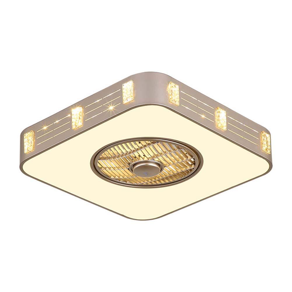 照明付きモダンシーリングファン、調光対応45ワットledシーリングライト調節可能ファン静かな天井ファンリビングルーム寝室保育園ペンダントラン 500  B07T4VW3DG