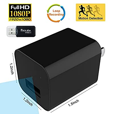 SpyGear-Security Charger Camera - Bysameyee Wireless USB Wall Charger Adapter Cam with Motion Detection, Mini Video Recorder for Home Office Surveillance - Bysameyee