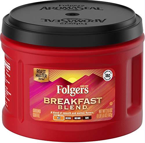 Folgers Ground Coffee Caffeinated, Mild Roast, Breakfast Blend, 3 - Breakfast Original