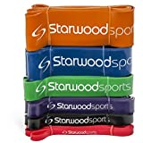 Resistance Bands - Pull Up Bands - Exercise Bands for CrossFit - Powerlifting - Assisted Pull Ups - Mobility Bands (One Per Set) for Men and Women - Lifetime Guarantee