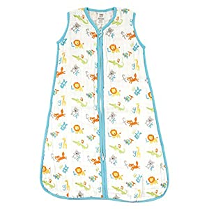 Luvable Friends Unisex Baby Safe Wearable Sleeping Bag/Sack/Blanket, ABC Muslin 1-Pack, 18-24 Months
