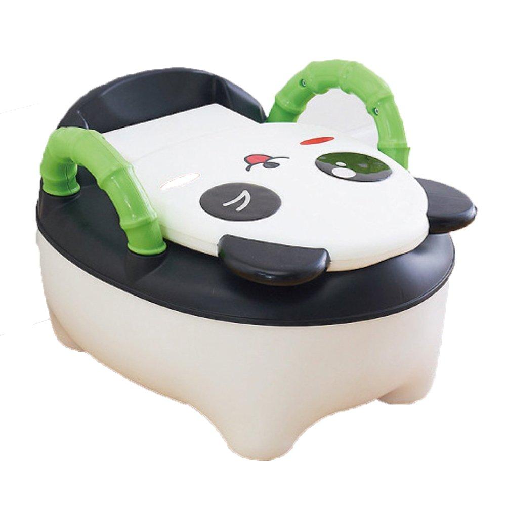 QIANGUANG® Bebé Niños Asiento del baño Niñito Entrenador Orinal Silla de entrenamiento (Panda - Rosa)