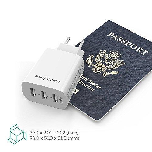 Cargador Móvil Con 3 Puertos USB
