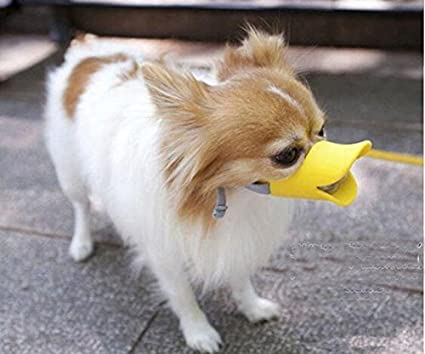 SRI Pet Silicone Dog Muzzle Pet Mouth Guard Protection Cap Anti-Bite  Anti-Bark Mask (Small)