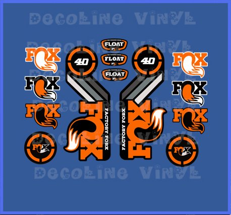 PEGATINAS FOX FLOAT 40 2015 HERITAGE DP1089 STICKERS AUFKLEBER DECALS AUTOCOLLANTS ADESIVI