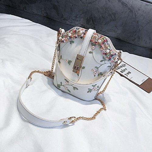 JUSTYOU-POPO Dames Sac Nouvelle Mode Sac à Main Rétro Simple Petit Sac Chaîne Sac épaule Messenger SacCadeau A
