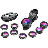 Apexel Phone Camera Lens-Macro Lens+Wide Lens+Fisheye...