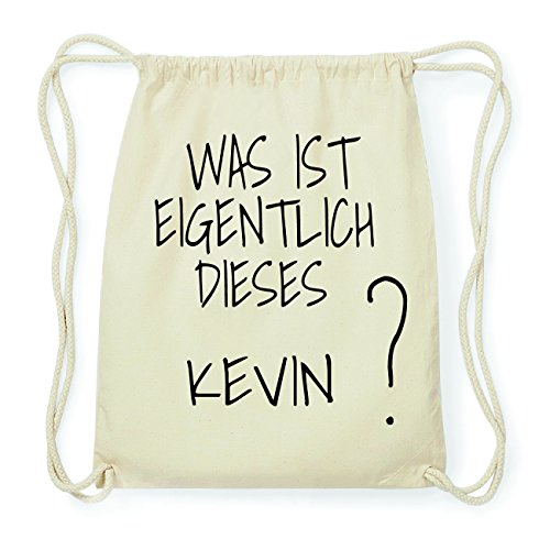 JOllify KEVIN Hipster Turnbeutel Tasche Rucksack aus Baumwolle - Farbe: natur Design: Was ist eigentlich