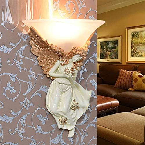 Wall Lamp, Hotel Cafe Restaurant Decoration Lamps,Angel Sculpture Wall Lamp Bedroom Bedside Living Room Background Wall Creative Simple Aisle Stairs Led Decoration Athena Angel Ca ()