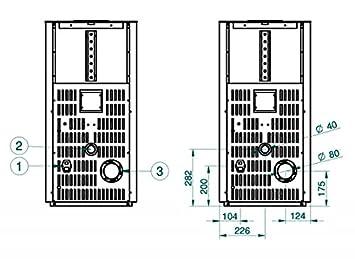estufa de pellets karmek One lisboa de 8,21 KW de aire ventilada de acero, Beige: Amazon.es: Hogar