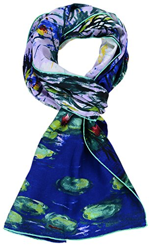 Paul Gauguin Museum - Salutto Womens 100% Charmeuse Silk Scarf Van Gogh Paul Gauguin Monet Painted Scarves (10)