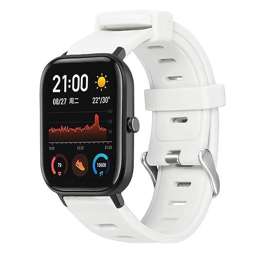 Pequeño reloj deportivo de silicona para Amazfit GTS Flat Head ...